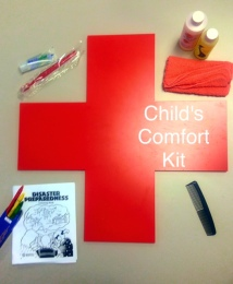 Photo credit: Jenny Contreras General items inside a child's comfort kit.