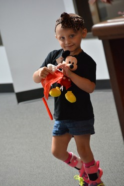 Raeleigh with Mickey