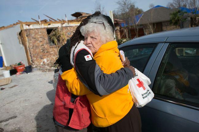 Ms Wanda _Garland Tornado Hugging Volunteer