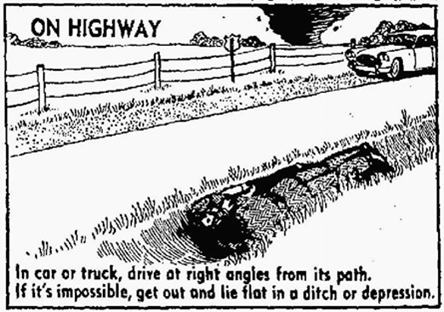 Car Highway Tornado