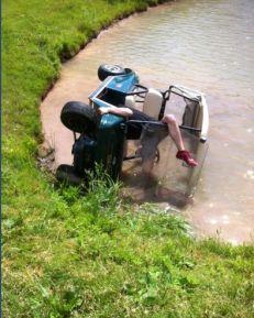 Golf Cart in Water