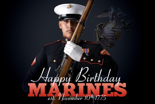 Happy St Marine Birthday And Cake Picture