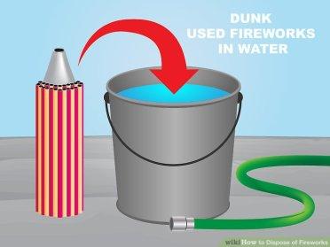 Fireworks Water bucket