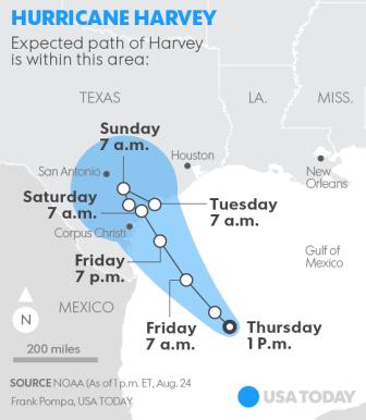 Hurricane Harvey Landfall1