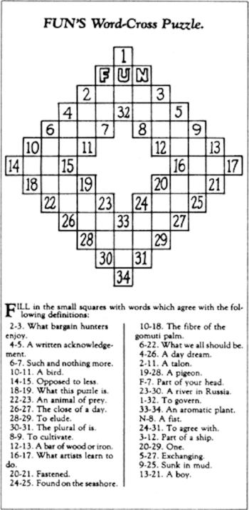 First Crossword