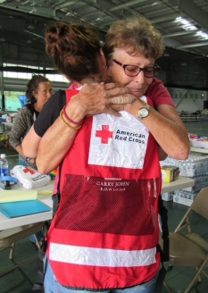 Hugs - Debra Smith of Puna at Pahoa Shelter - ARC Website